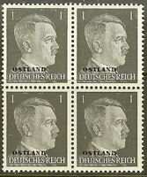 Stamp Germany Ostland Mi 01 Block 1941 WW2 War Reich Hitler Estonia MNH