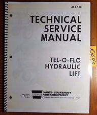 White Minneapolis-Moline Tel-O-Flo Hydraulic Lift Technical Service Manual 12/72