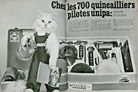 PUBLICITÉ PRESSE 1967 700 QUINCAILLIERS PILOTES UNIPA POLYREX PEUGEOT GAZ - CHAT
