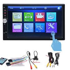 7'' 2-DIN Bluetooth Autoradio Video MP5 Player TFT-Monitor + Rückfahrkamera Neu