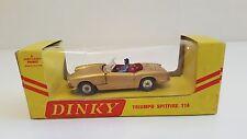 Dinky Toys - 114 - Triumph Spitfire gold en boîte export d'origine N Mib