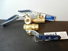 """Qty 3 American Valve G100 Lead Free 1/4"""" FNPT Brass Water Oil Gas Ball Valve"""