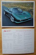 ASCARI FGT Supercar original 1998 UK Mkt Small Format Sales brochure