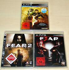 3 PLAYSTATION 3 SPIELE SAMMLUNG - FEAR 2 & F.E.A.R. 3 - RESIDENT EVIL 5 GOLD