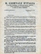 """Pubblicità WERBUNG - 1934 """" IL GIORNALE D'ITALIA : PROGRAMMA ABBONAMENTI """""""