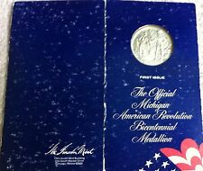 Silver First Issue 1974 Official Michigan  State Bicentennial Medallion Medal