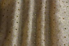 "Mirror Embroidery Metallic Silk Organza Fabric 44"" W, 1.70 Yard Piece (EB-917B)"