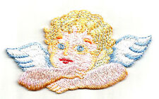 Angel - Cherub - Angel Wings - Embroidered Iron On Patch - B
