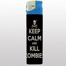 "Jumbo Big Giant 6.5"" Electronic Lighter Keep Calm and Kill Zombies Design-019"