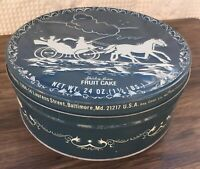 Vintage Shirley Jean Capital Bake Co Horse & Carriage Christmas Fruit Cake Tin