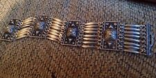 1930's Or Antique Mexican Sterling Silver Art Deco Link Mexico Bracelet