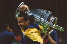 BARCELONA: PEDRO SIGNED 6x4 CHAMPIONS LEAGUE TROPHY CELEBRATION PHOTO+COA