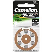 Piles boutons auditive Camélion A312 0% mercure, livraison rapide et gratuite