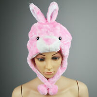 Cartoon Animal Hat Fluffy Plush Cap Unisex Perfect Gift for Him or Her