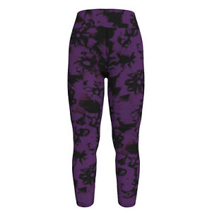 TC LuLaRoe Tall & Curvy Leggings Floral Paint Streaks Purple Black NWT E70