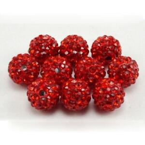 5Pcs 10mm Round Disco Ball Czech Crystal Loose Beads For DIY Jewelry Making