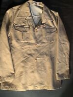 Vintage Tergal Khaki  Collar Button Down Mens Size 34 Societe Melange Phodiacota