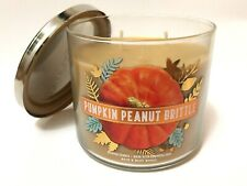 NEW 1 BATH BODY WORKS PUMPKIN PEANUT BRITTLE SCENTED 3-WICK 14.5 OZ LARGE CANDLE