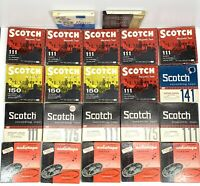 "Lot Of 22 Used Scotch & Mixed 7"" Reel to Reel Tapes 1/4"" x 1200 Sold as Blanks"