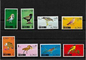 Briefmarken -Oman -Vogel-Satz