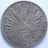 MEXIQUE 8 REALES 1874 MO M.H  ARGENT KM:377.10