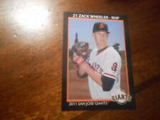 2011 SAN JOSE GIANTS Grandstand Single Cards YOU PICK FROM LIST $1-$3 each OBO