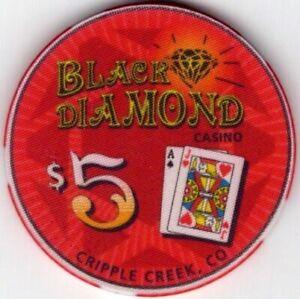 Rare $5.00 Black Diamond Colorado Casino Chips