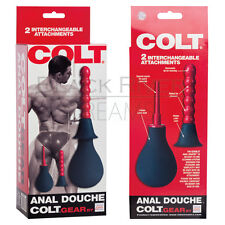 Colt Anal Vaginal Douche Kit Cleansing Enema Colon Ribbed Cleaner Comfort Tips