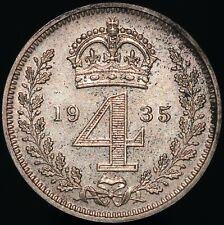 More details for 1935   george v maundy fourpence   silver   coins   km coins