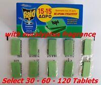 Zanzara ( Tigre) Repellente Insetti Mosche Midge Raid Eucalipto -mat Tablet