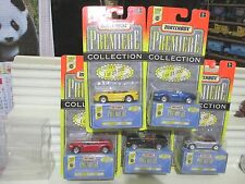 Matchbox 1997 Premiere World Class #12 SIX Cars Mint in Mint Boxes + Packages