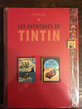 ALBUM DOUBLE LES AVENTURES DE TINTIN CLUB L'ILE NOIRE / AU PAYS DE L'OR NOIR