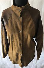 FURS ETTEX Wildleder Damen Jacke Bluse braun Gr 42 Tracht Folklore tolles Design
