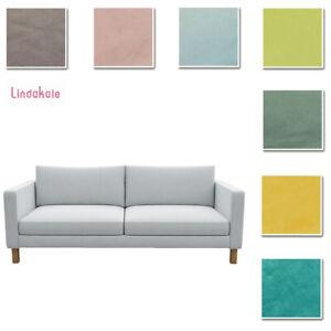 Custom Made Cover Fits IKEA Karlstad Sofa, Three-Seat Sofa Cover, Velvet Fabric