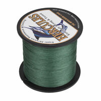 8 Strand Hercules 100% PE Braid Fishing Line Green 100M 300M 500M 1000M Strong