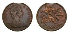 1978 Canada One Cent Error Clipped Planchet EF