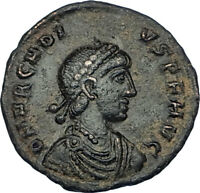 ARCADIUS crowned by Victory 385AD Cyzicus Authentic Ancient Roman Coin i65861