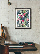 Floral Print Fashion Poster Home Interior Wall Picture Decoration A4