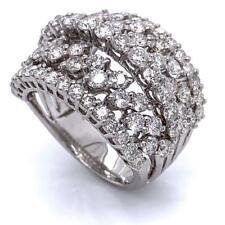 2.79 TCW Round Diamonds Cocktail Dome Ring In Solid 14k White Gold Size 6.5
