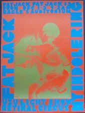FAT JACK RETINAL CIRCUS 1967 concert poster VANCOUVER foster art AOR