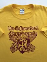 Un-Edjucated Skateboards 420 Pirate Logo Surfer Skater T-shirt Mens Large P3