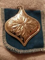 1985 Towle Sterling Silver Flowers of Christmas Poinsettia Ornament 2 1/2""