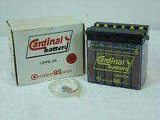 NOS VINTAGE CARDINAL BATTERY 12N9-3A  12V CLEAR CASE