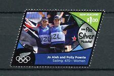 New Zealand NZ 2016 MNH Rio Silver Medal Jo Aleh Sailing 1v Set Olympics Stamps