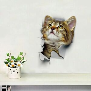 3D Removable Funny Cat Switch Sticker Art Decal Bathroom Wall Vinyl Home Decor