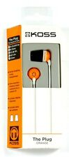 185349  KOSS The Plug In-Ear Headphones (Orange),Comfort Memory foam Ear cushion