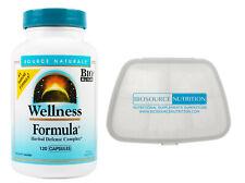 Source Naturals Wellness Formula 120 and Biosource Nutrition Pocket Pill Pack