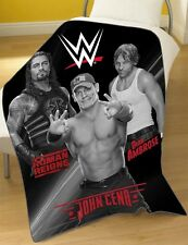 Official WWE Wrestling Stars Roman Reigns Dean Ambrose, John Cena Fleece Blanket