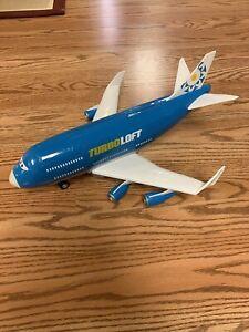 RARE Disney Pixar Cars 2 Everett Turboloft RC Jet Plane Transporter No Remote