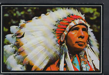 Native American Indians Postcard - Indian Headdress RR2591